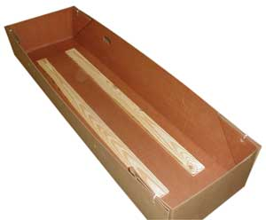 Wood Lined Leak Resistant Cremation Tray